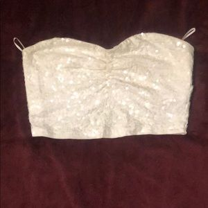 Express sequin tube top.